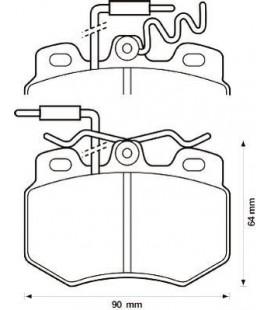 Citroen C15 1.8D 84-02 Pastillas de freno delanteras RH 217014